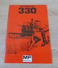 Massey Ferguson Mähdrescher 330 Betriebsanleitung