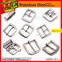 Meitme 1 1/2 Belt Buckle Vintage Stainless Steel Work Buckles Pin Hippie DIY Lot