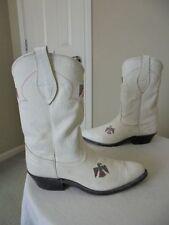 VTG NOCONA WHITE THUNDERBIRD WESTERN HALLOWEEN COSTUME COWBOY BOOTS 6.5