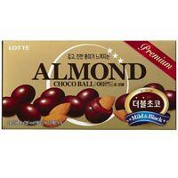 Korean Snack LOTTE ALMOND CHOCO BALL 46g 1,3,5pack, Mild Black Chocolate