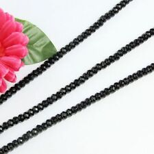 Strang schwarz Obsidian 5x8mm Linsen Facettiert Lose Perlen