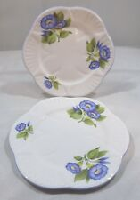 Superb Pair of Vintage Shelley 15cm Plates Morning Glory 13885, Dainty Shape