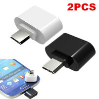 For Android Tablet Phone 2PCS Micro USB Male to USB 2.0 Adapter OTG Converter