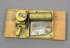 Antiguo juego obra walzenspielwerk sign. f caja musical reloj Music Box automaton