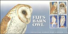 Fiji 2006  Barn Owl/Birds/Raptors/Nature/Wildlife/Conservation 4v set FDC n15322