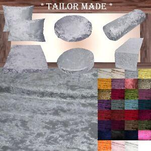 Mv03 Gray Crushed Velvet Seat Patio Bench 3D Box Cushion Bolster Cover/Runner