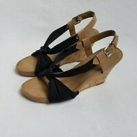 Aerosoles Womens Plush Pillow Memory Foam Sling Back Wedge Sandals Size 11 M