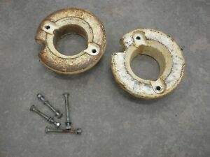 """Bolens Cub Cadet Tractor Cast Iron Rear Wheel Weights fit 12"""" Rims - 50lb each"""