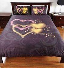 BLACK HEARTS SINGLE BED QUILT DOONER DUVET COVER SET  BEDROOM HOME DECOR