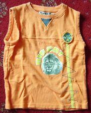 "Orange ""Big Cat"" sleeveless top age 7-8"