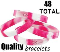 (48) Pink Ribbon Camo ~ Breast Cancer Awareness Bracelets CAMOUFLAGE