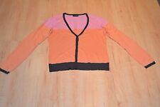 TAIFUN Feinstrickjacke Jacke Gr.S,36 rosa-orange-braun NEUWERTIG