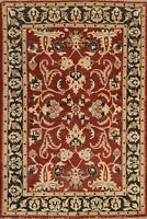 4'x6' Floral Traditional Peshawar Oriental Area Rug Hand-knotted Wool Carpet