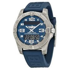 Breitling Aerospace Evo Blue Dial Rubber Mens Watch E7936310-C869BLPT3
