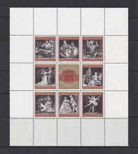 Austria - Scott #840a-h Vienna Opera House (Souvenir Sheet of 8) 1969 Mnh - Au01