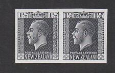 Nouvelle Zélande. 1 1 / 2d grey-slate plaque preuve imperforate paire. non montés de menthe.