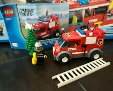 Lego 7208 Fire Station VAN Minifigure Ladder Cat Tree and Manual