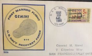NAVAL SPACE BECK COVER #524 ONBOARD GT-3 TASK FORCE SHIP MULLINNIX (DD-944) 1969