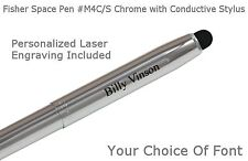 Fisher M4 Series - Personalized Chrome Space Pen With Conductive Stylus - #M4C/S