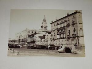 Naya / Venice Venezia 1870 Riva Schiavoni Vintage Albumen Print Photo Foto