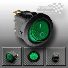 ON / OFF Verde Illuminazione Interruttore Rocker Auto Van Camion Barca dashboard Panal 12V