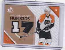 2007-08 SP Game Used Significant Numbers Jeff Carter Dual 2 Color Jersey # 3/17