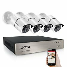 ZOSI Metal Shell CCTV Security Camera System 1080P 8CH 2.0MP 3000TVL TVI DVR
