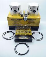 Hepolite 7.25-1 Complete Piston Kit +60 BSA A10 Gold Flash 650cc 50-62 OEM11062