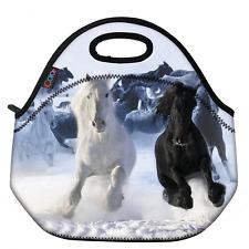 ICOLOR Running Horse Boys Insulated Neoprene Lunch Bag Tote Handbag lunchbox Foo