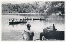 Spring Valley NY * Vacation Camp for Blind Lake and Boats ca 1950s * Rockland Co