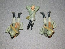 Elastolin Lineol Soldaten 3x liegende Soldaten Selten!