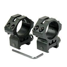 "2Pcs 1"" Scope Ring 20mm Picatinny Low Profile Weaver Rail Flashlight Laser Mount"