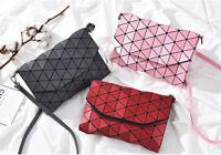 Women Geometric Handbag PU Lingge Shoulder Bag Crossbody Casual shopping Bag