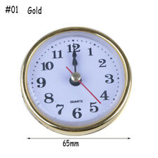 65mm/190mm Quartz Clock Movement Insert Roman Numeral White Face Gold Trim Hot #01