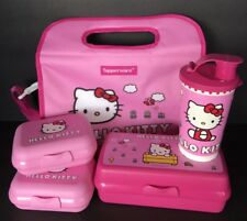 Tupperware Hello Kitty Lunch Bag Tumbler Keeper Containers 5 Pc Set Pink New