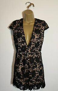 Lace Play Suit. Size M(10) Ladies Party Dresses Ladies Black Play Suit LUCY WANG