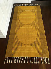 Vtg Mid Century Scandinavian Reversible Swedish Kilim RUG - Wall Hanging Pop Art