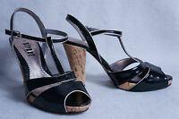 STREET ღ sexy Pumps Peeptoe Plateau High Heel Street Shoes Lack Gr. 40 neuwertig