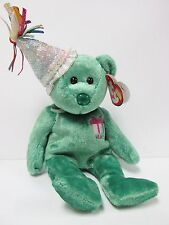 """Ty Beanie Baby """"May"""" w/Party Hat, Birthday Beanie Collection, New-Mint Tags"""