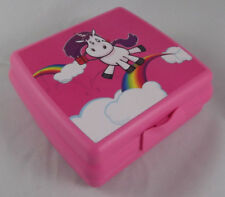 Tupperware A 126 Sandwichbox Lunchbox Dose Box Einhorn Pink Rosa / Bunt Neu OVP