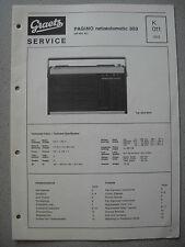 ITT/GRAETZ Pagino Netzautomatic 303 Service Manual