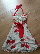 Vintage Coast Silk Marilyn Monroe 1950s Style Floral Dress size 8