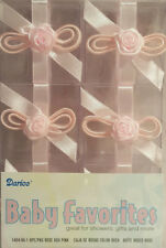 Clear Favor Boxes - Pink Rose (6) - Party Supplies