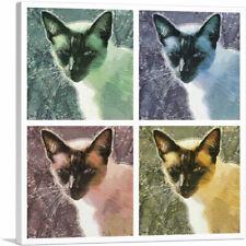 Artcanvas Snowshoe Cat Breed Collage Canvas Art Print