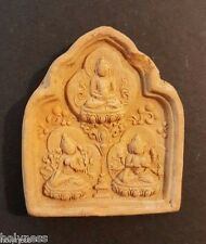 ANTIQUE TIBET BUDDHA CLAY AMULET 1200-1500 AD / RARE / #9