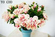 Real Touch gardenia Pink Artificial Silk Flower Red Wedding Bouquet Home Decor