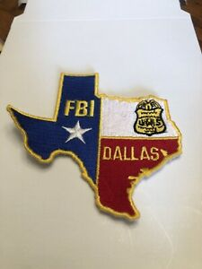 FBI DALLAS TEXAS  DIVISION TEXAS STATE SHAPED  PATCH