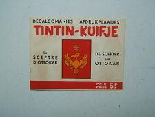 TINTIN  / DECALCOMANIE DAR /  LE SPECTRE D OTTOKAR   / COMPLET  / ANNEES  50