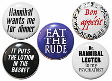"""1"""" (25mm) 'Hannibal' TV SHOW / MOVIE Button Badge Pins - High Quality"""
