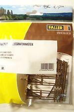 NEW HO Faller UTILITY / POWER POLES (6) : Model Detail KIT 180921